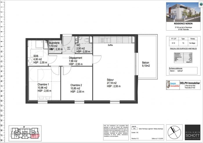 acheter appartement 3 pièces 66 m² thionville photo 1