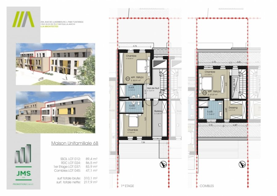 acheter maison individuelle 3 chambres 310.1 m² bridel photo 2