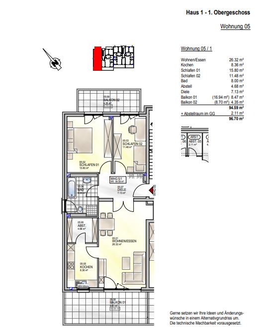 apartment for buy 0 room 94.59 m² palzem photo 4