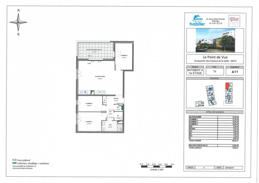 acheter appartement 4 pièces 89 m² metz photo 1