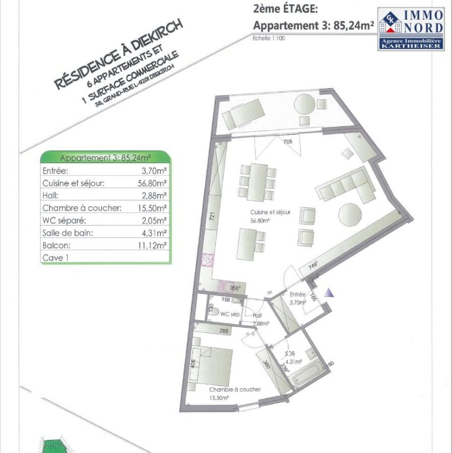acheter appartement 2 chambres 86.96 m² diekirch photo 7