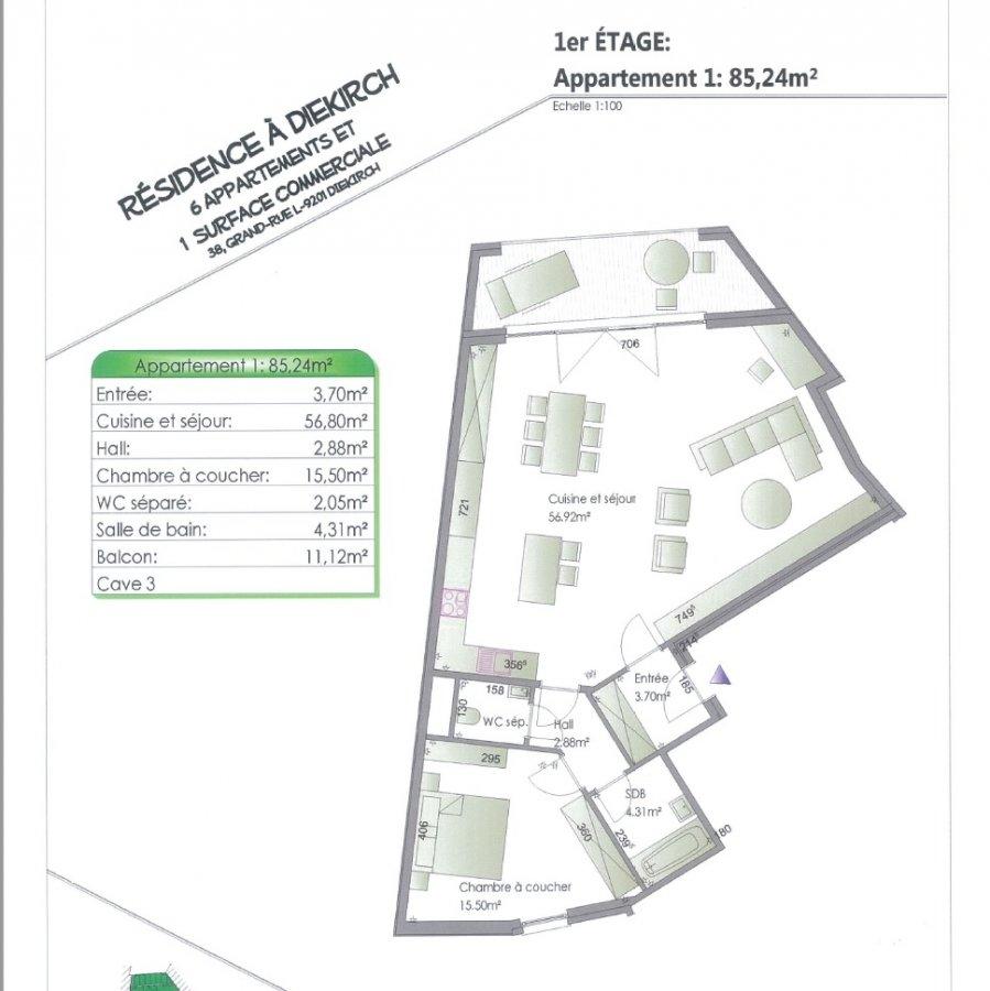 acheter appartement 2 chambres 86.96 m² diekirch photo 6