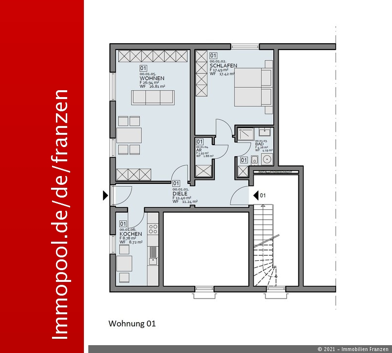 wohnung kaufen 2 zimmer 69.47 m² bitburg foto 1