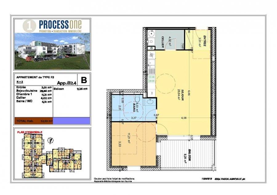 acheter appartement 2 pièces 54.39 m² amnéville photo 1