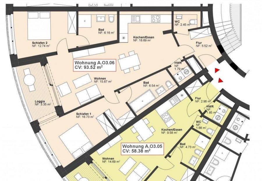 wohnung kaufen 2 schlafzimmer 93.52 m² wasserbillig foto 1