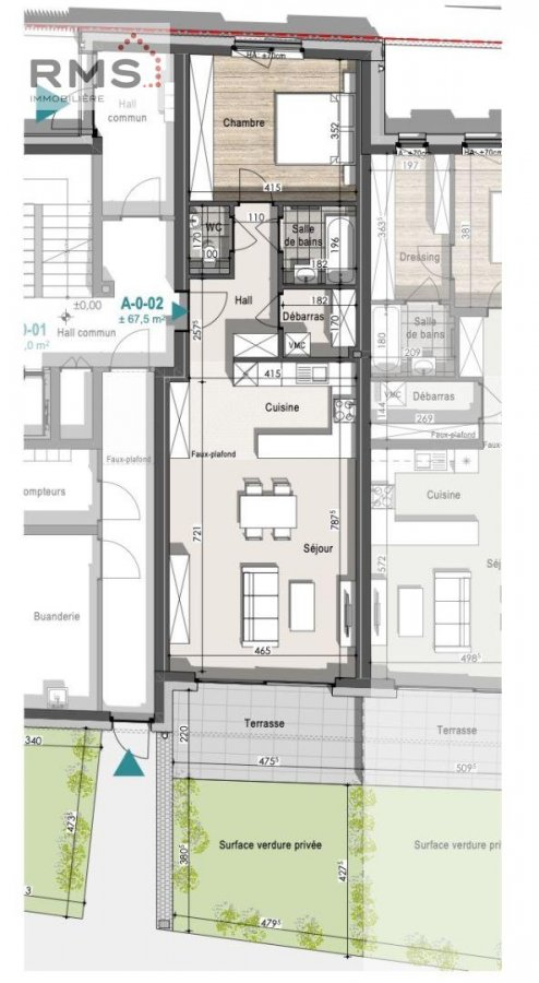 acheter appartement 1 chambre 67.16 m² remich photo 6