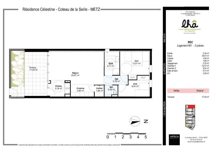 acheter appartement 3 pièces 75.33 m² metz photo 4