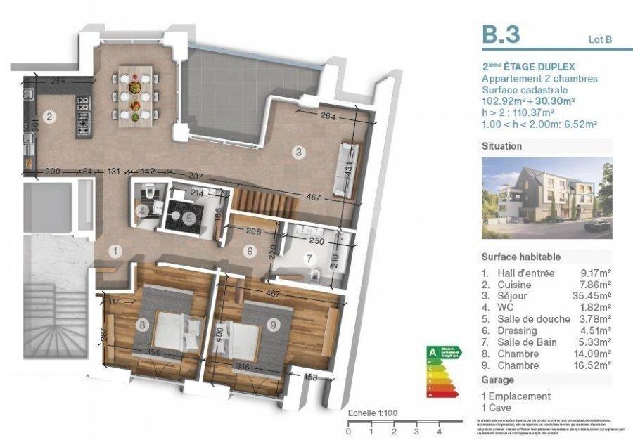 acheter duplex 2 chambres 112.8 m² luxembourg photo 3