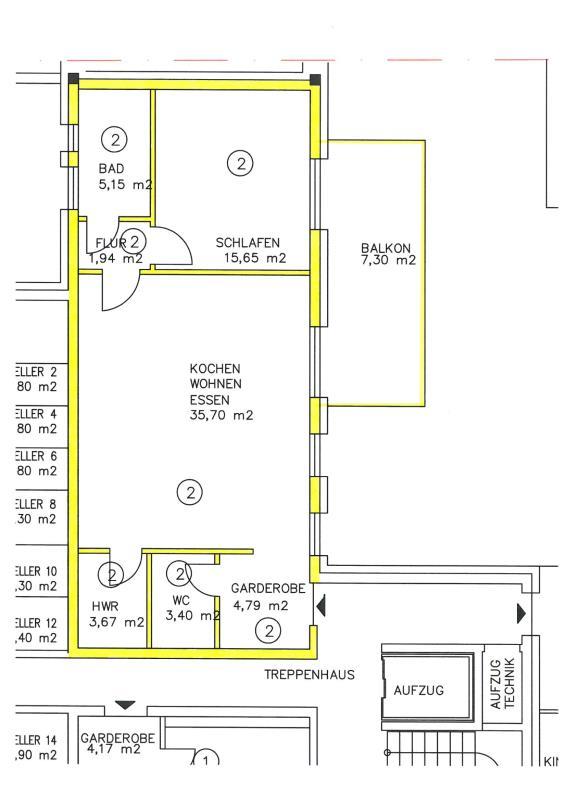 wohnung kaufen 2 zimmer 77.6 m² trier foto 3