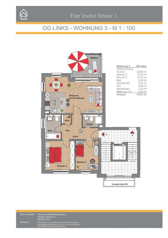 wohnung kaufen 3 zimmer 78.57 m² trier foto 7