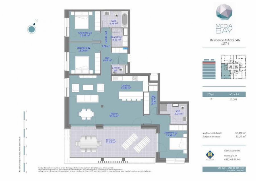 acheter appartement 3 chambres 125.03 m² luxembourg photo 4