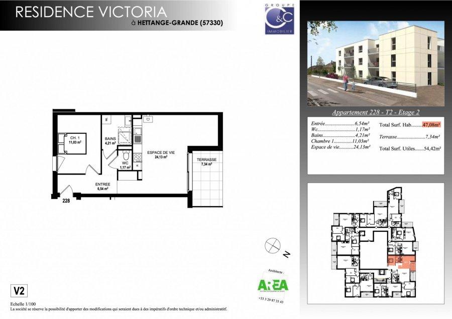 acheter appartement 2 pièces 47.08 m² hettange-grande photo 3