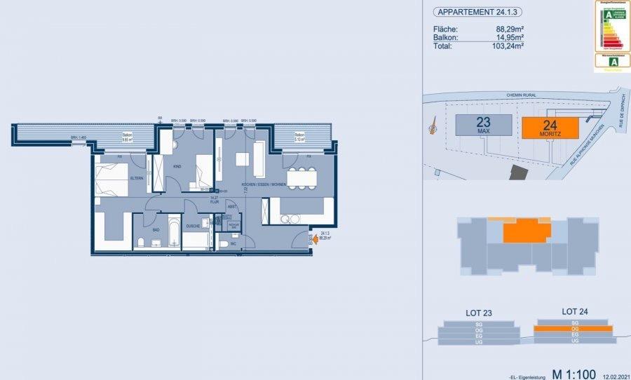 acheter appartement 2 chambres 93.22 m² bertrange photo 4
