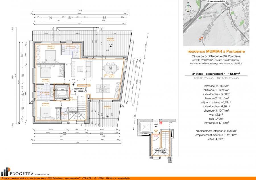 Penthouse à vendre 3 chambres à Pontpierre