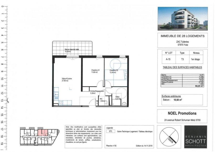 acheter appartement 3 pièces 63 m² yutz photo 1