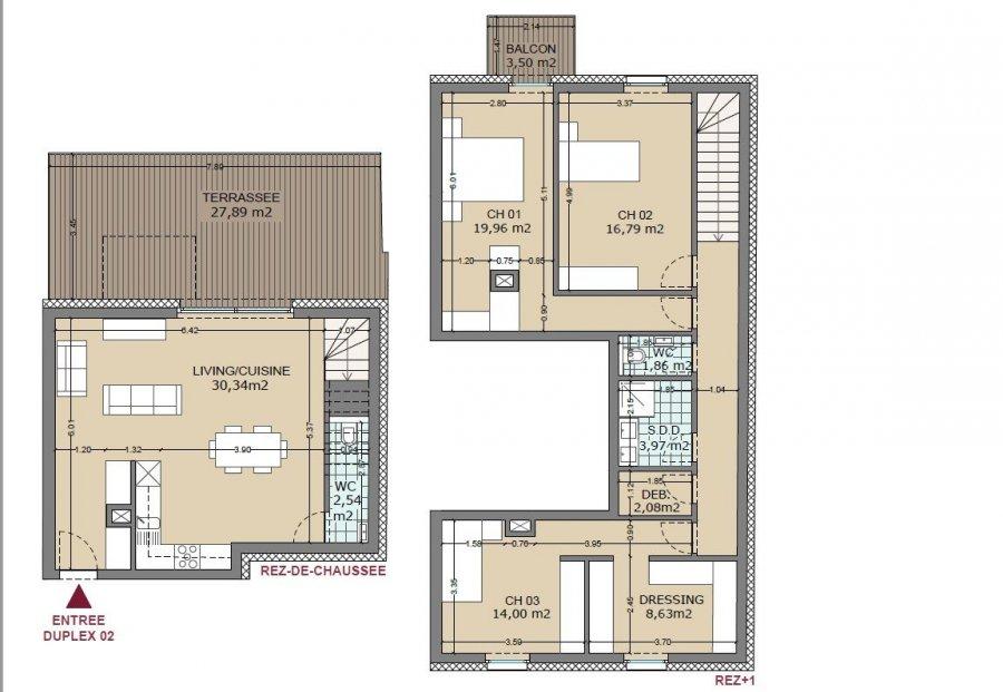 acheter appartement 3 chambres 121.08 m² lamadelaine photo 2