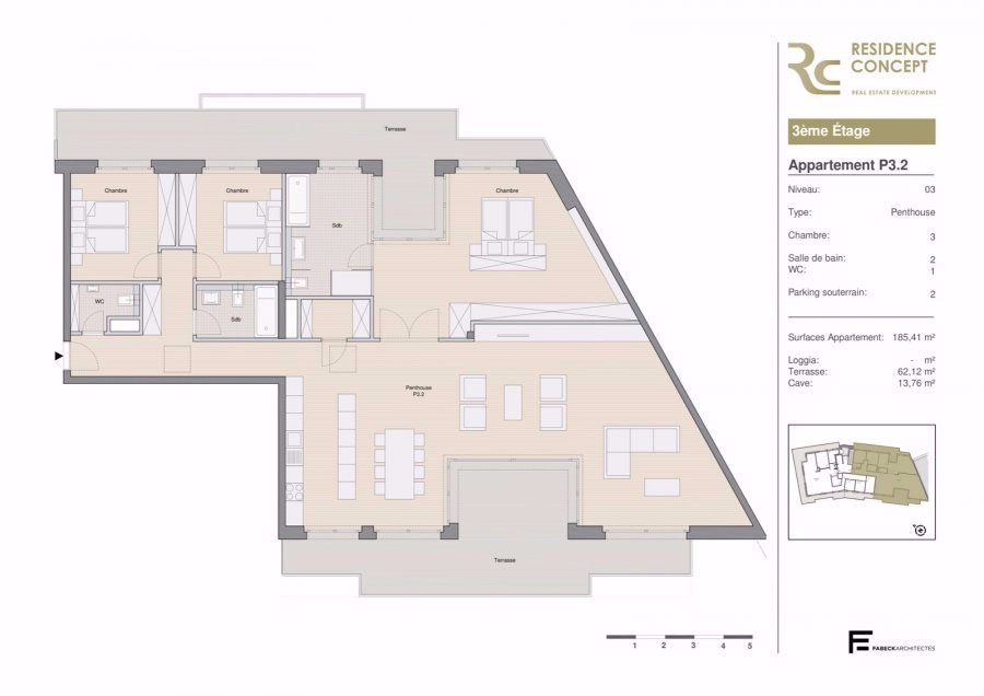 acheter penthouse 3 chambres 204 m² luxembourg photo 4