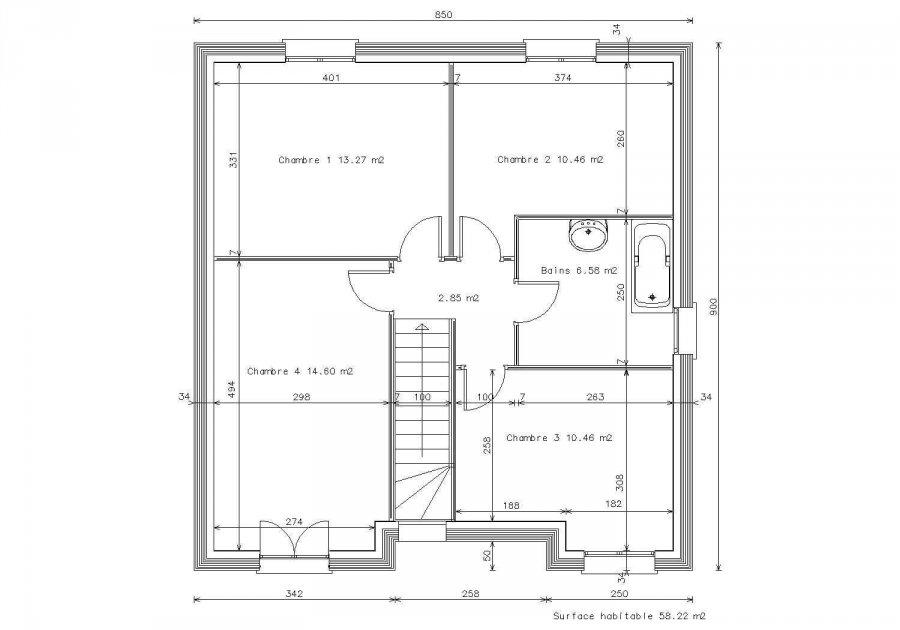 acheter maison 5 pièces 105 m² vernéville photo 3