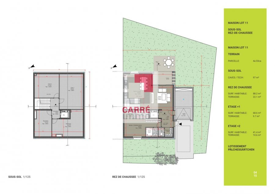 acheter maison 5 chambres 198.2 m² wormeldange-haut photo 4