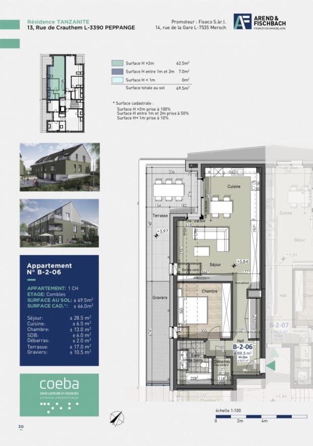 wohnung kaufen 1 schlafzimmer 65.83 m² peppange foto 4