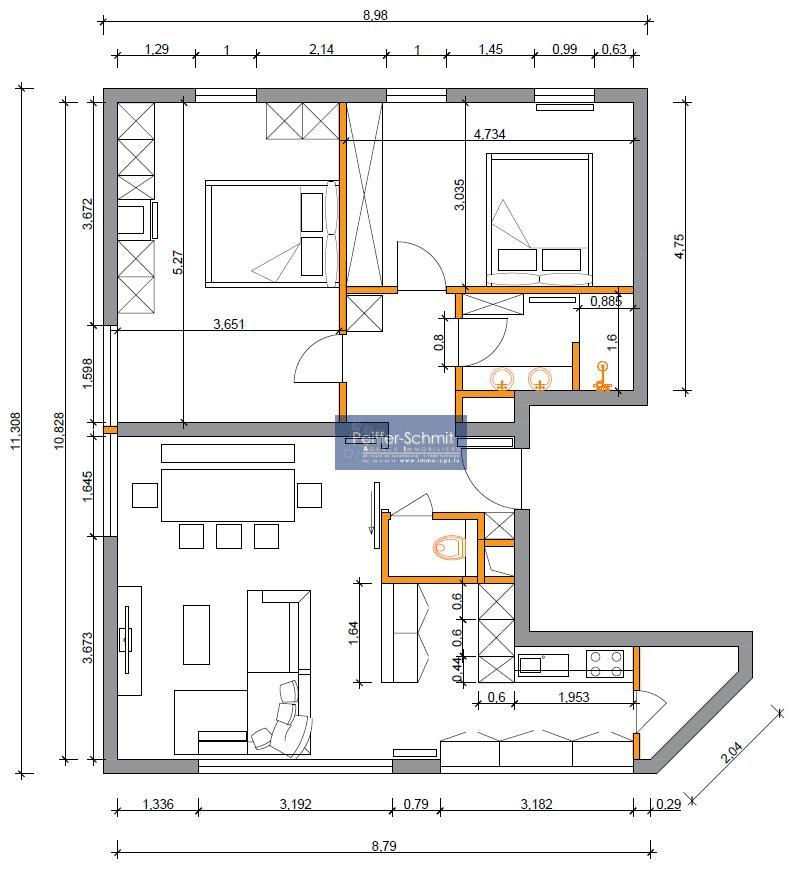 Bureau à louer 2 chambres à Tuntange
