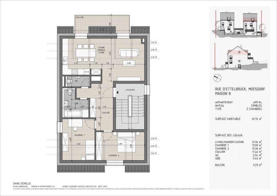 Appartement à vendre 2 chambres à Moesdorf