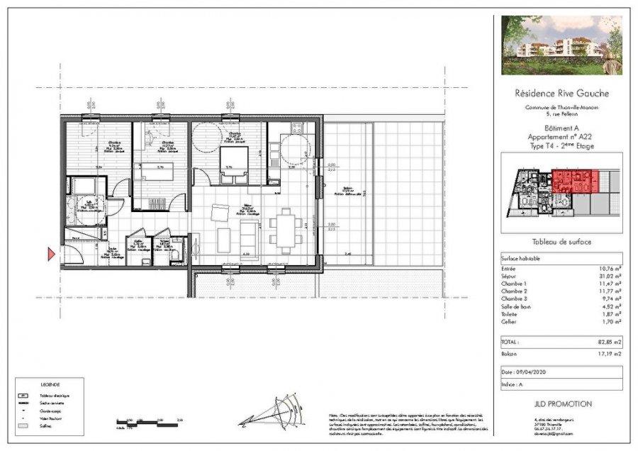 acheter appartement 4 pièces 82.85 m² manom photo 3