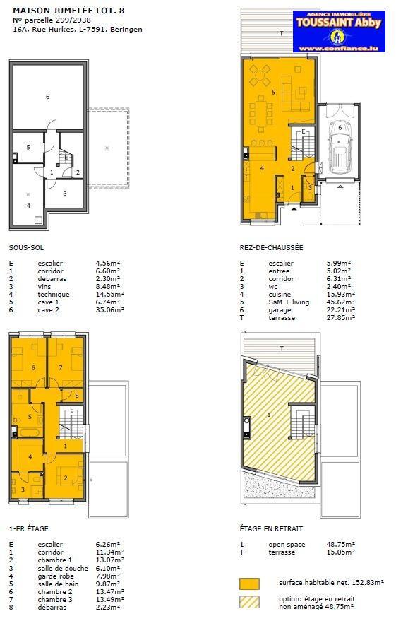 acheter maison individuelle 4 chambres 201.58 m² beringen (mersch) photo 3