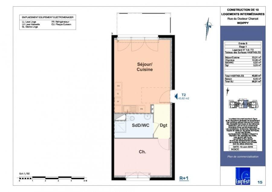 acheter appartement 0 pièce 43 m² woippy photo 2