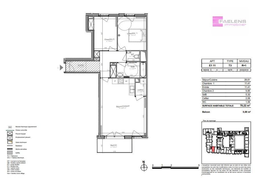 acheter appartement 3 pièces 71 m² lille photo 5