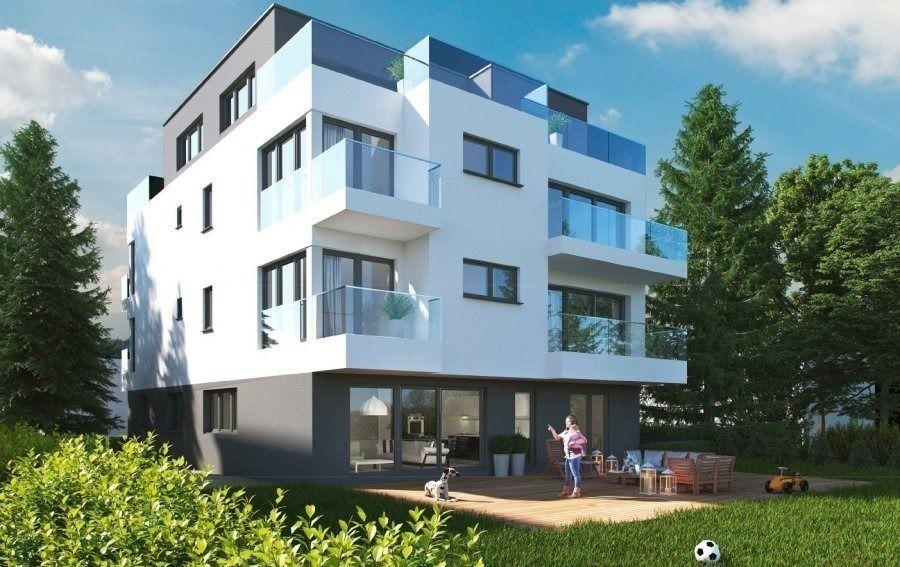 Résidence MARIE CURIE  Future construction d'une résidence de 6 appartements à Bereldange,  situation calme, près de la nature et à 12 min de Luxembourg ville.  Nouvelle résidence de haut-standing. Classe énergétique AA propose :   - App 146 m², 3 chàc, jardin 411 m² , 1.400.000 tva 3 %  Parking intérieur simple en supplément au prix de 30.000 ' TVA 3% comprise Parking intérieur double en supplément au prix de 50.000 ' TVA 3% comprise Parking extérieur en supplément au prix de 15.000 ' TVA 3% comprise  Pour des renseignements vous pouvez me contacter au 691 850 805. Ref agence :398