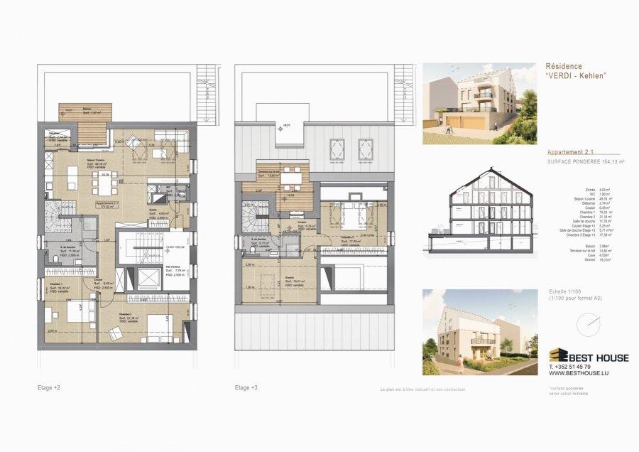 Penthouse à vendre 3 chambres à Kehlen