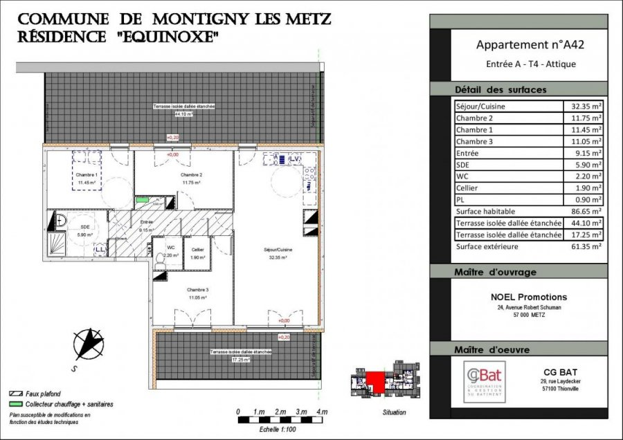 acheter appartement 4 pièces 86 m² montigny-lès-metz photo 1