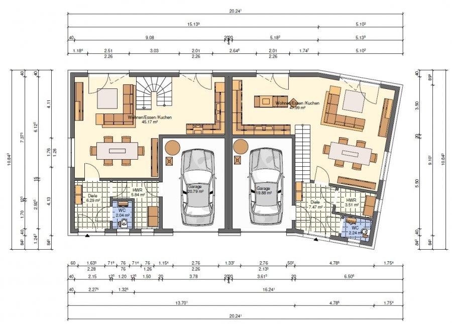doppelhaushälfte kaufen 4 schlafzimmer 138 m² hostert (rambrouch) foto 3