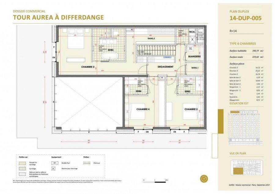 acheter duplex 4 chambres 229.6 m² differdange photo 5