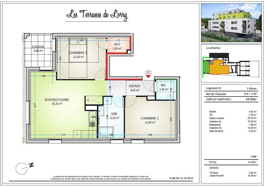 acheter appartement 3 pièces 64.5 m² metz photo 2