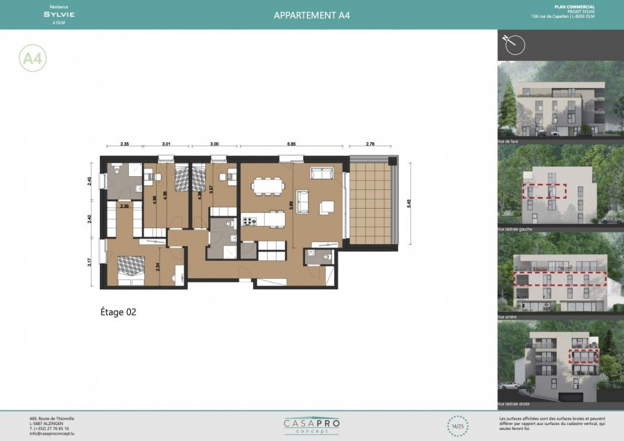 acheter appartement 3 chambres 122 m² olm photo 4