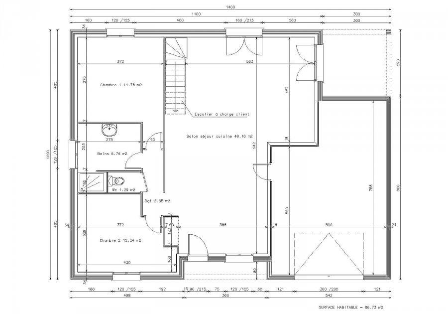 maison en vente trieux 145 m 189 800 immoregion. Black Bedroom Furniture Sets. Home Design Ideas