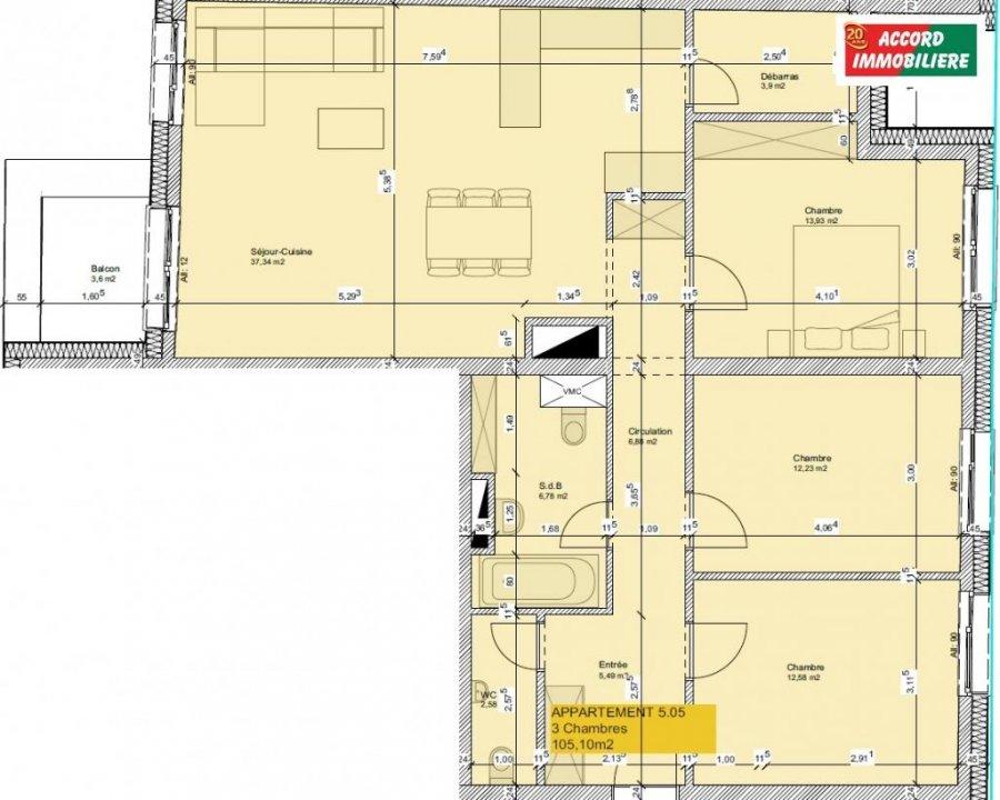 acheter appartement 3 chambres 105.1 m² rodange photo 2