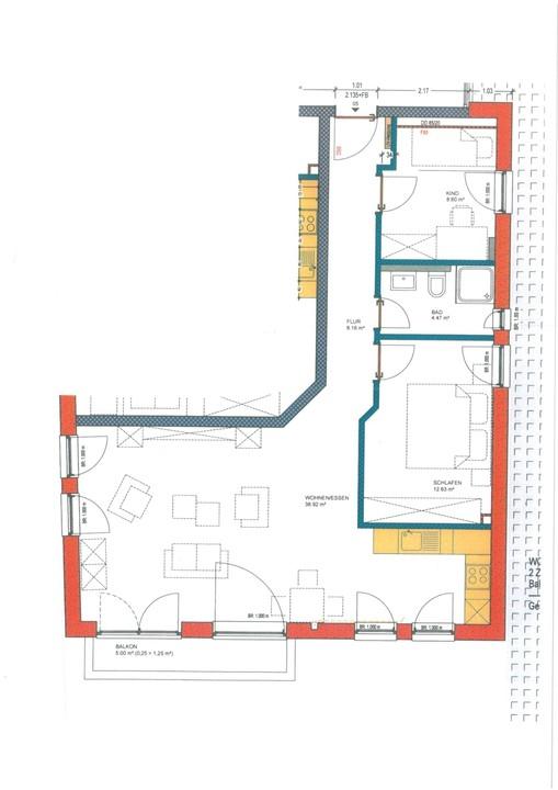 wohnung mieten 3 zimmer 74.12 m² langsur foto 3