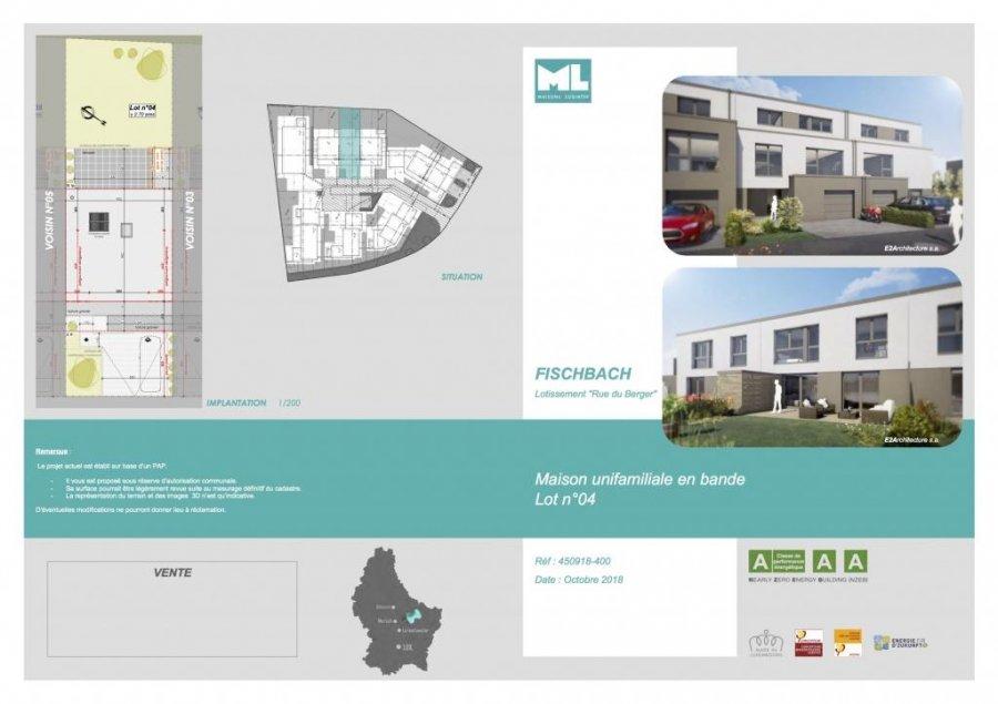 acheter maison jumelée 4 chambres 0 m² fischbach (mersch) photo 4