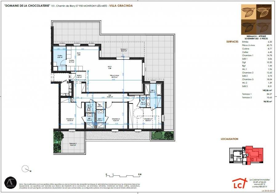 acheter appartement 5 pièces 142.86 m² montigny-lès-metz photo 3