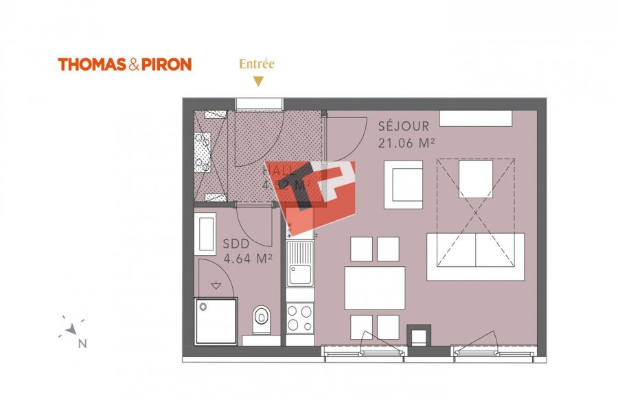 acheter studio 0 chambre 30.93 m² luxembourg photo 2