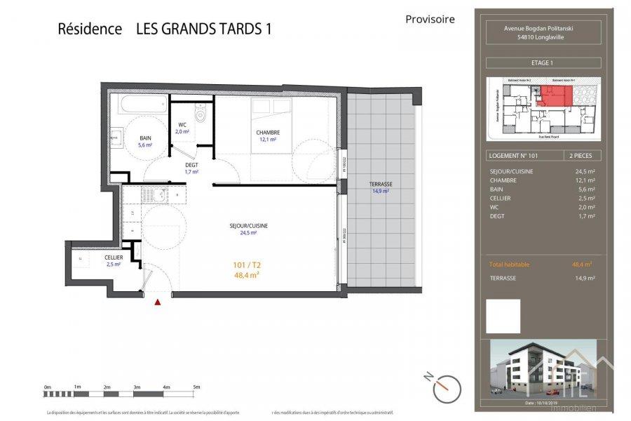 acheter appartement 0 pièce 48 m² longlaville photo 1