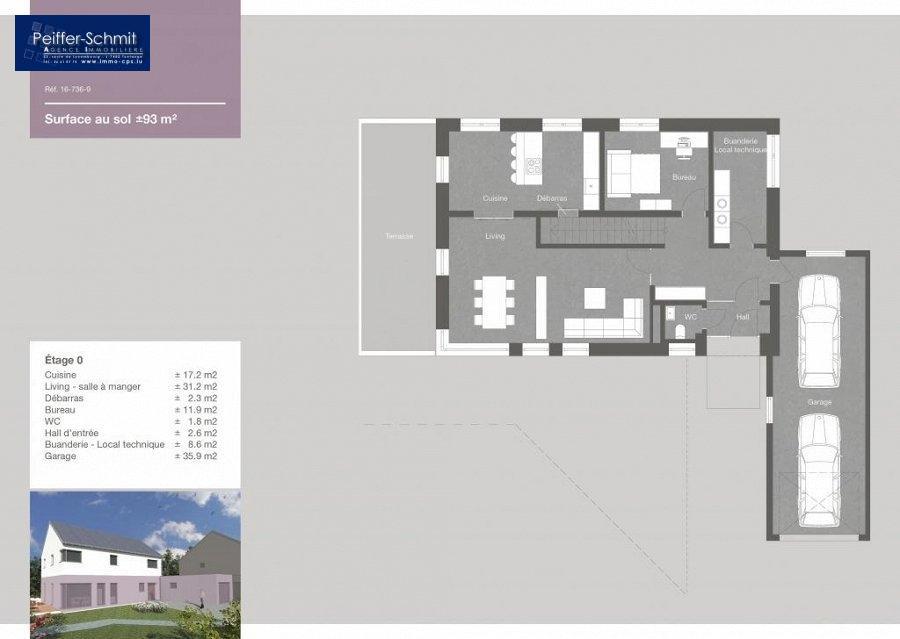 Maison mitoyenne à vendre 4 chambres à Baschleiden