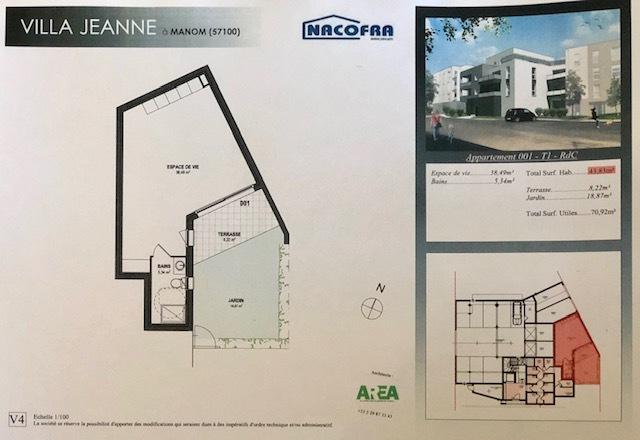 acheter appartement 2 pièces 44 m² manom photo 2