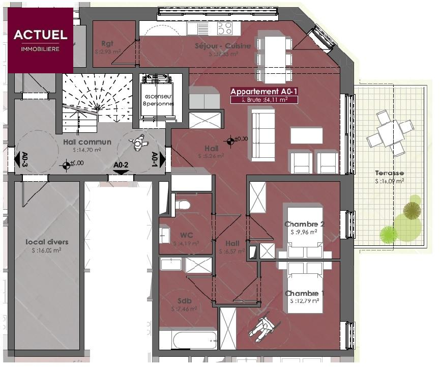 acheter appartement 2 chambres 95 m² diekirch photo 3