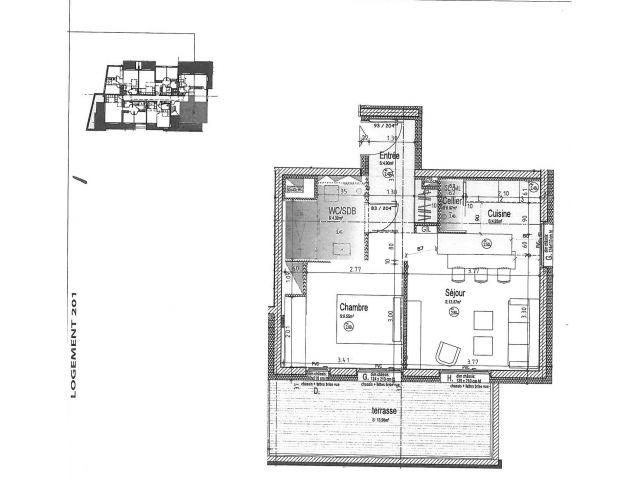 louer appartement 2 pièces 38 m² épinal photo 4