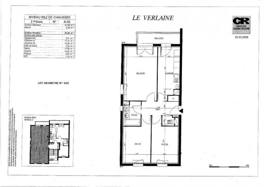louer appartement 3 pièces 61 m² le ban saint-martin photo 6