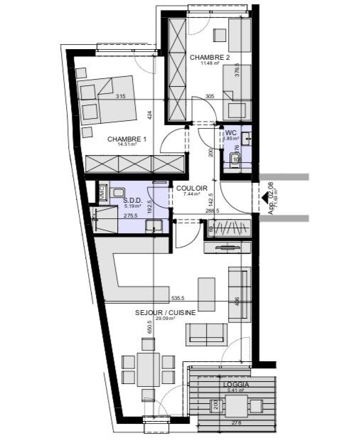 acheter appartement 2 chambres 79.7 m² luxembourg photo 3